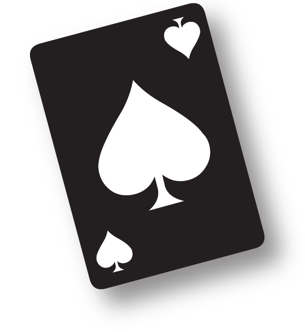 Spade card png. Cards with giant pips