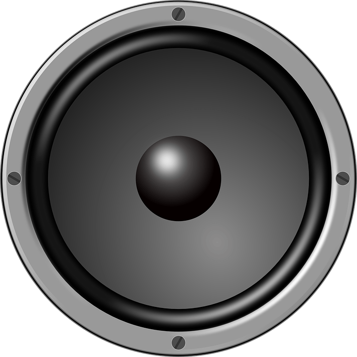 Black speaker png. Large loudspeaker transparent stickpng