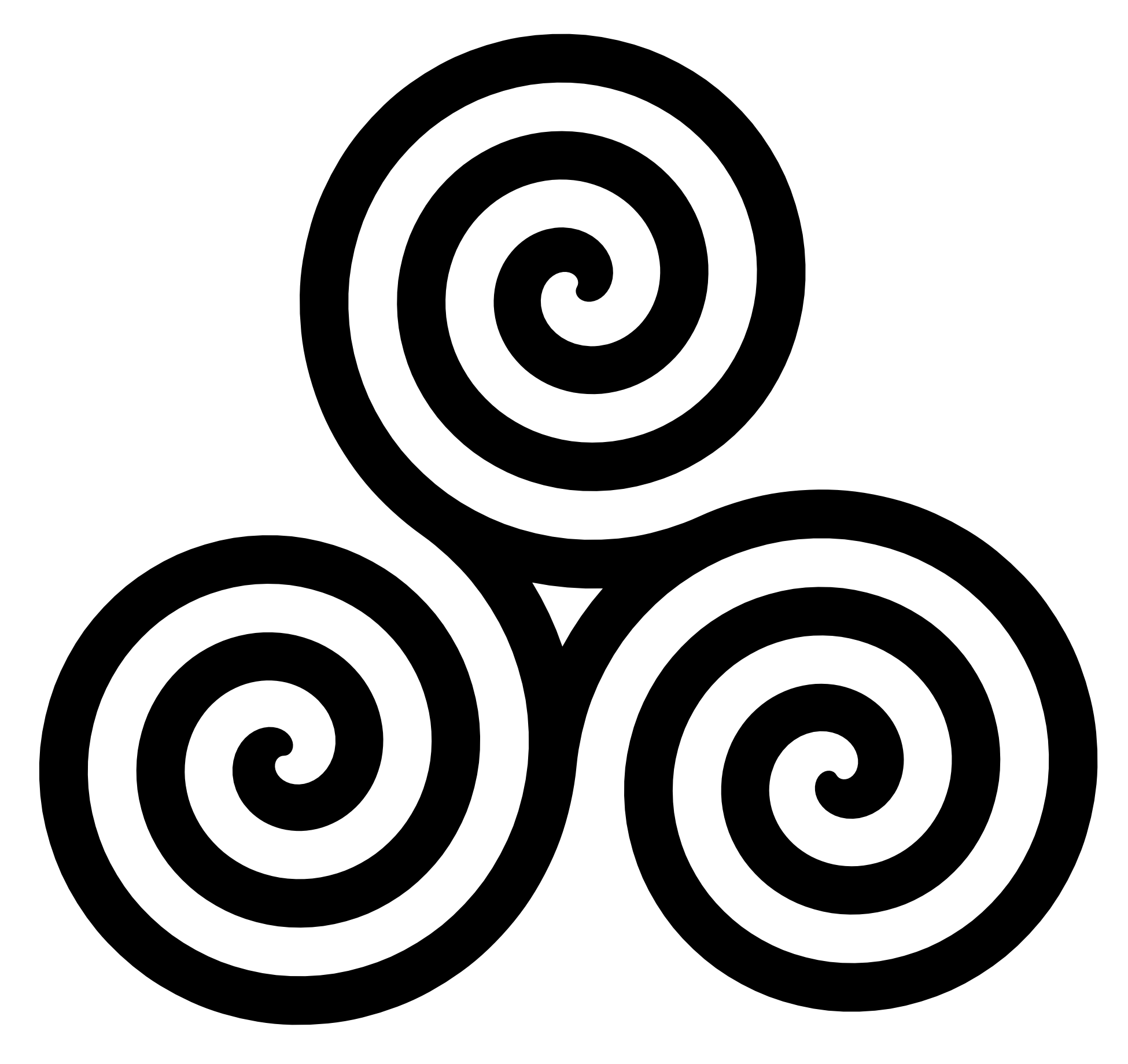 Spiral png. Celtic triple transparent image