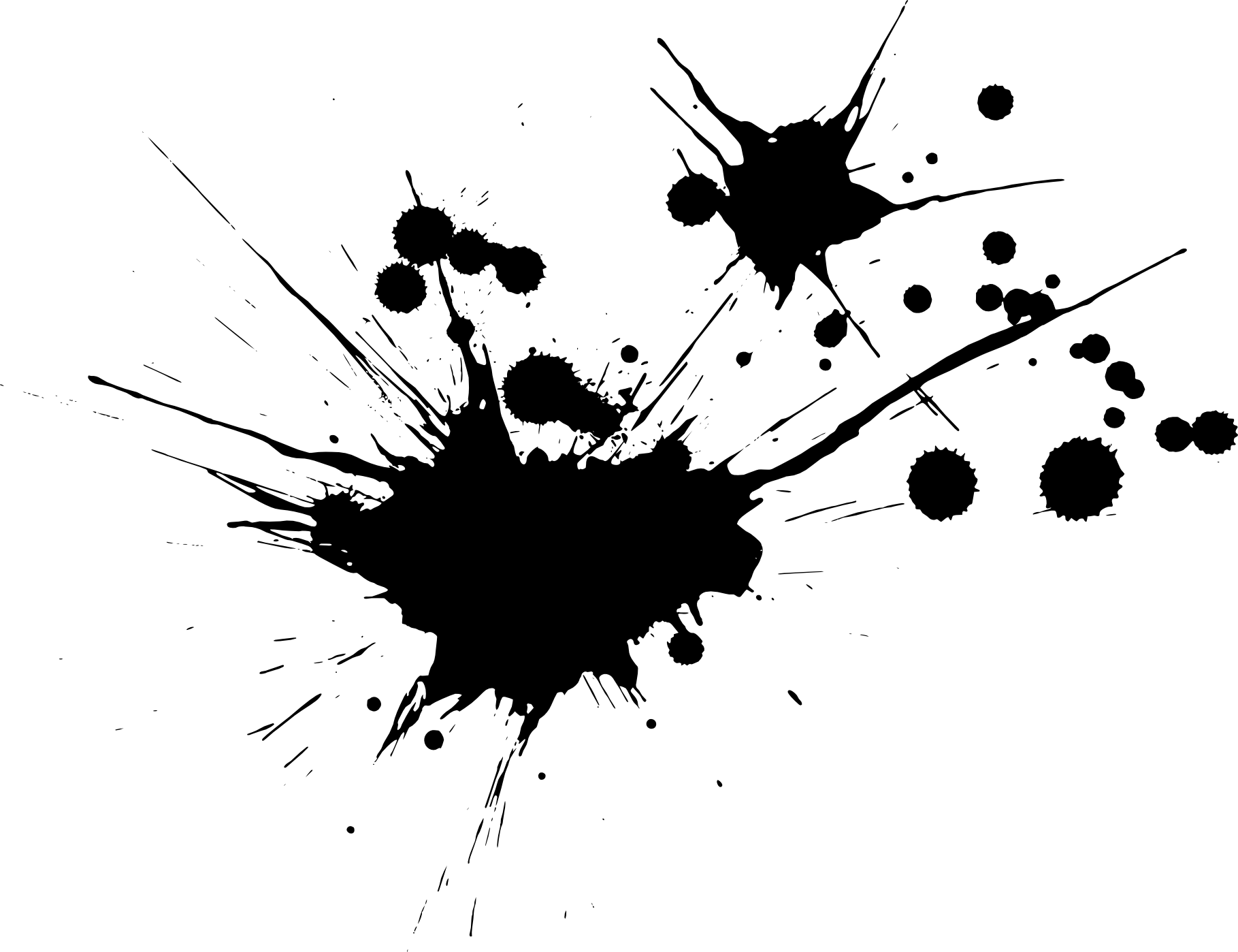 Black splash png. Paint splatters transparent