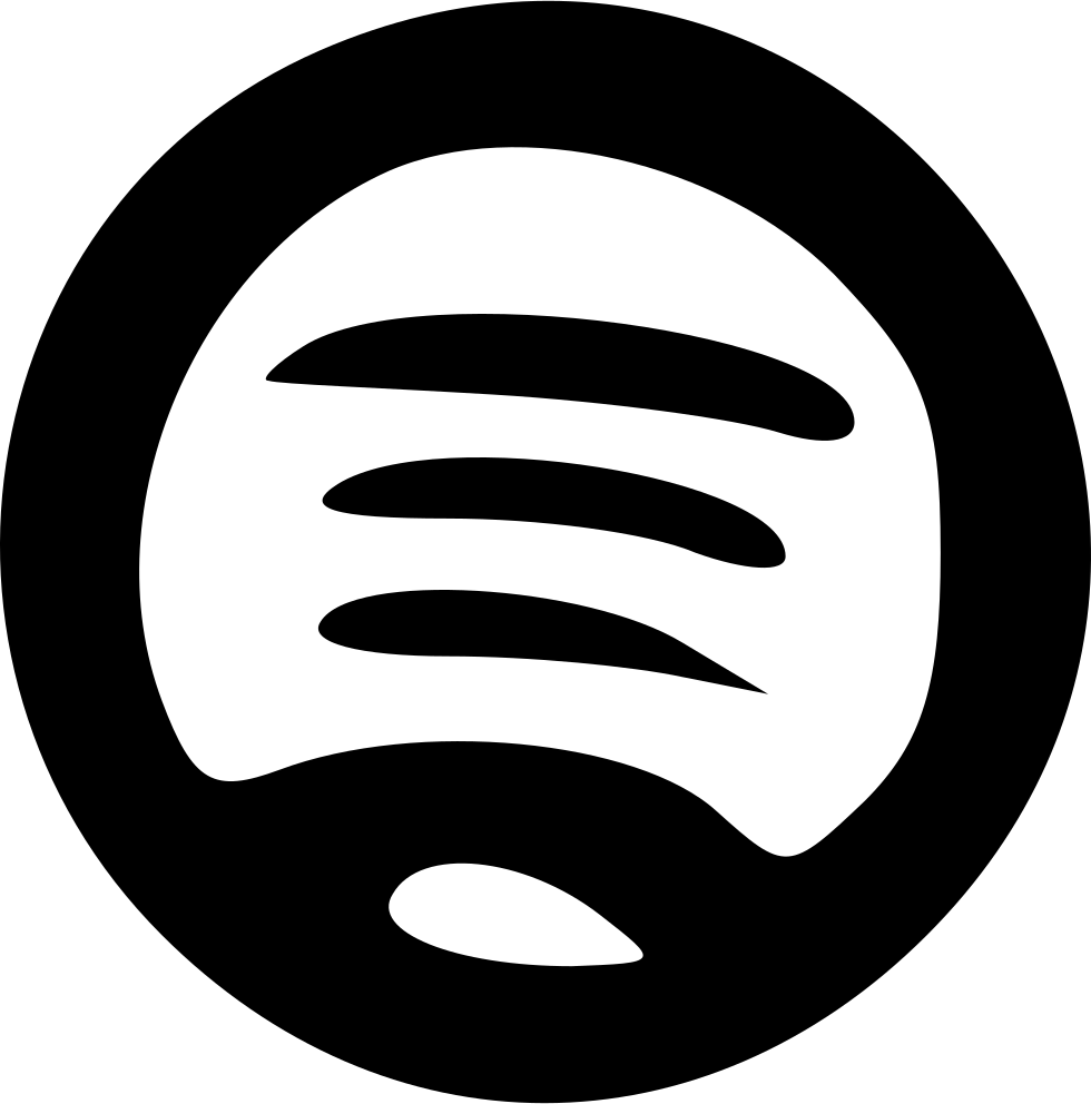 Spotify vector stream. Free black icon download
