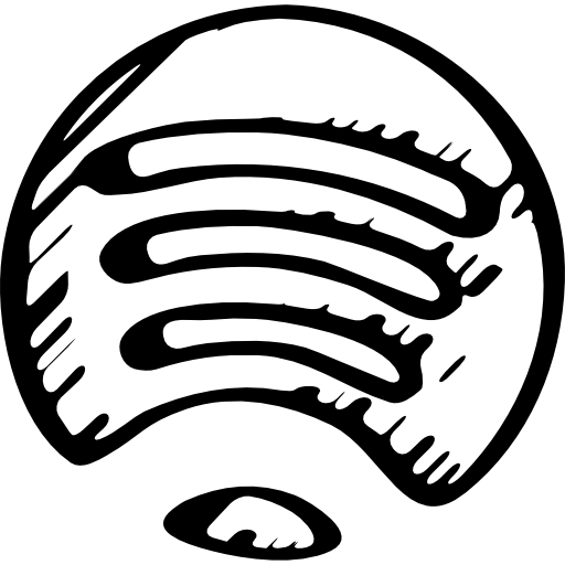 Black spotify logo png. Sketched variant free icons