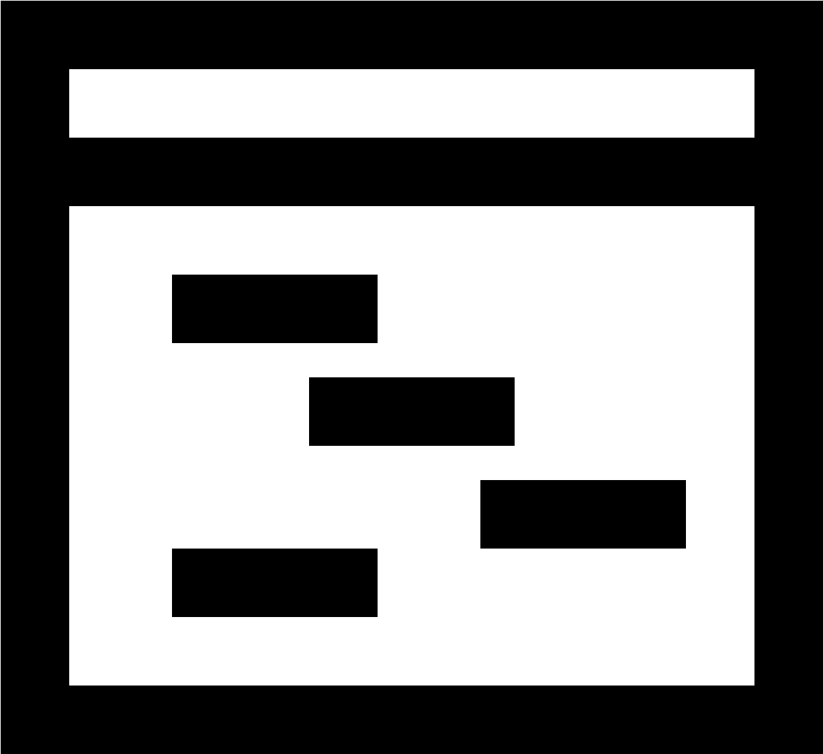 Black square outline png. Download icon image with