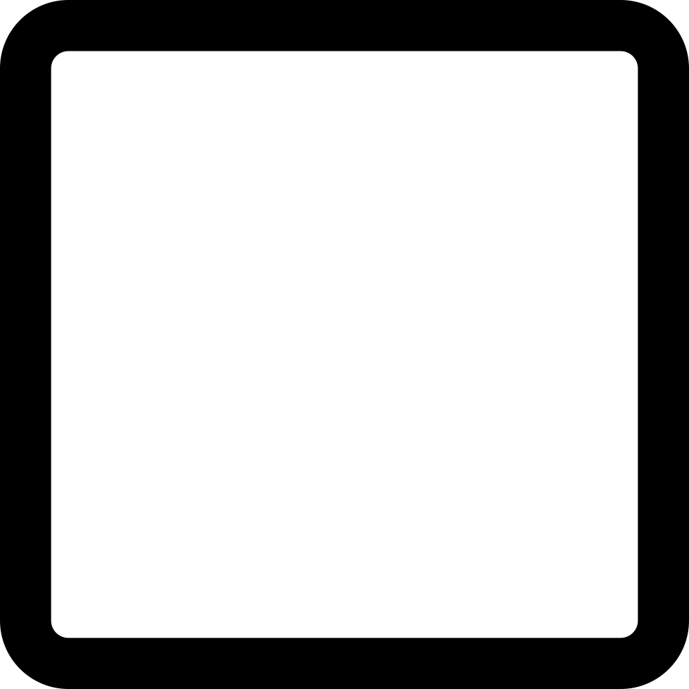 Square outline png. Svg icon free download