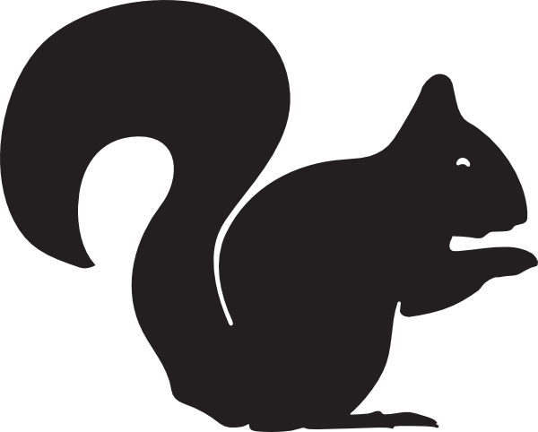Squirrel silhouette png. Clip art at clker