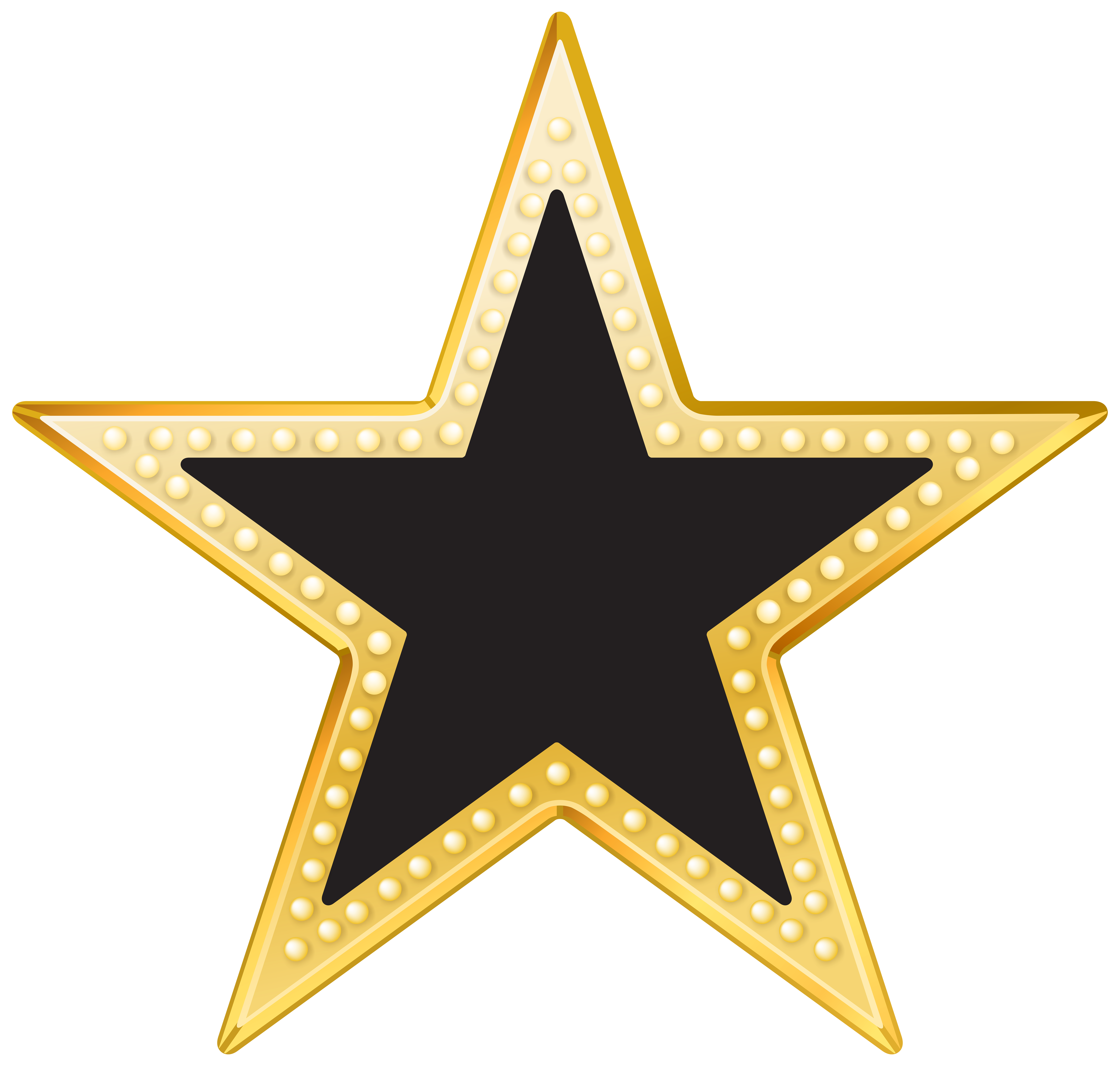Star png. Gold and black transparent clipart stock
