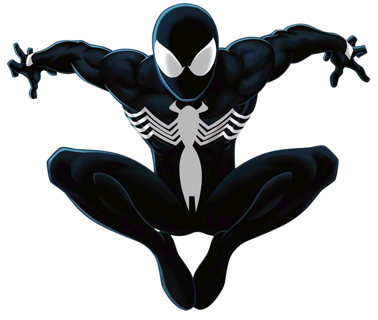 Black suit spiderman png. Spider man ultimate by