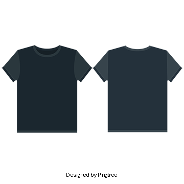 Vector tee blank. Black t shirt png