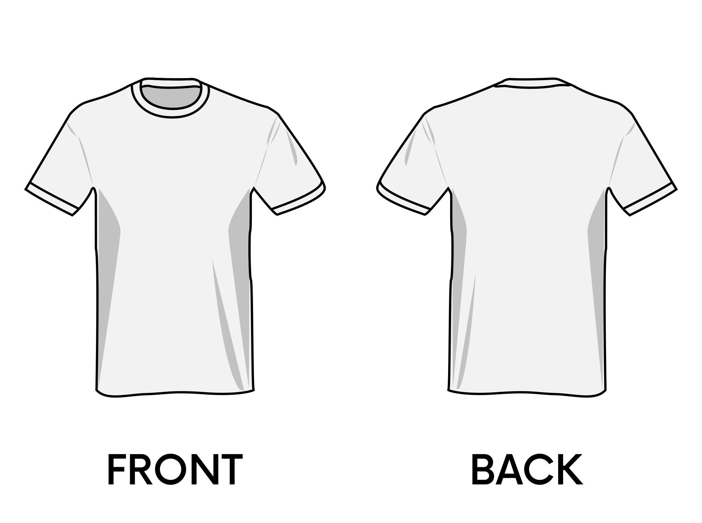 Black t shirt template png. Clipart big image