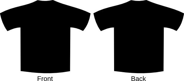 T shirt png template. Black clip art at