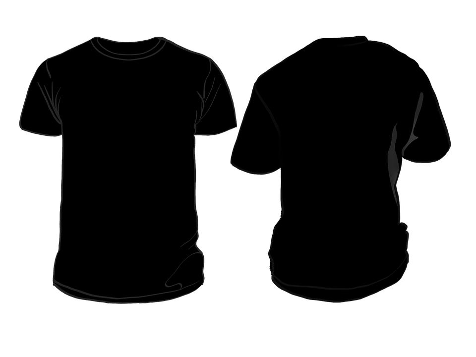 Black t shirt template png. Illustration picture arts