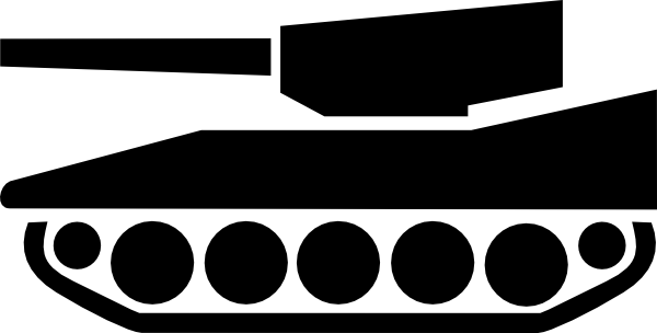 Black tank. Free army clipart download