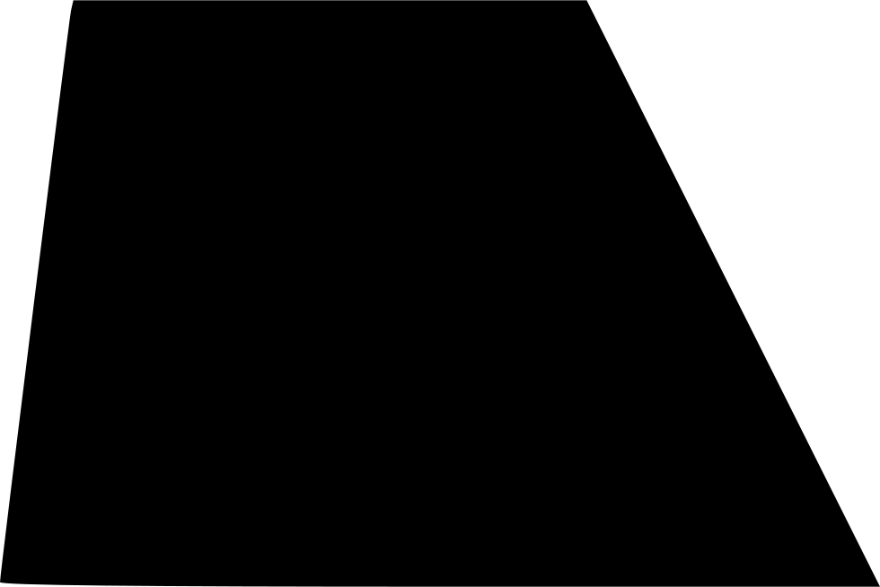 Black trapezoid png. Shape svg icon free