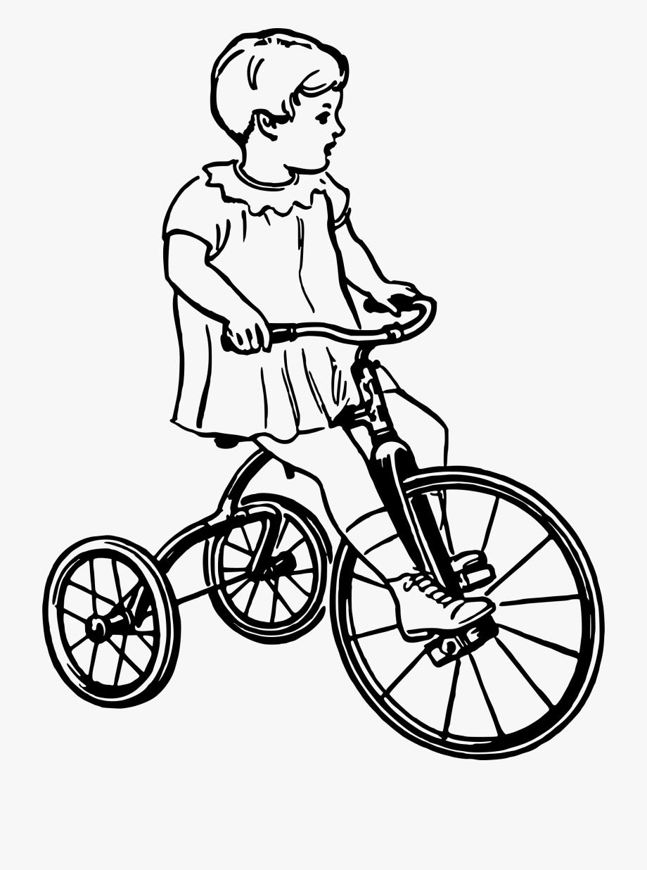 White tricycle. Trike clipart black and