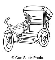 White tricycle. Clipart black and images