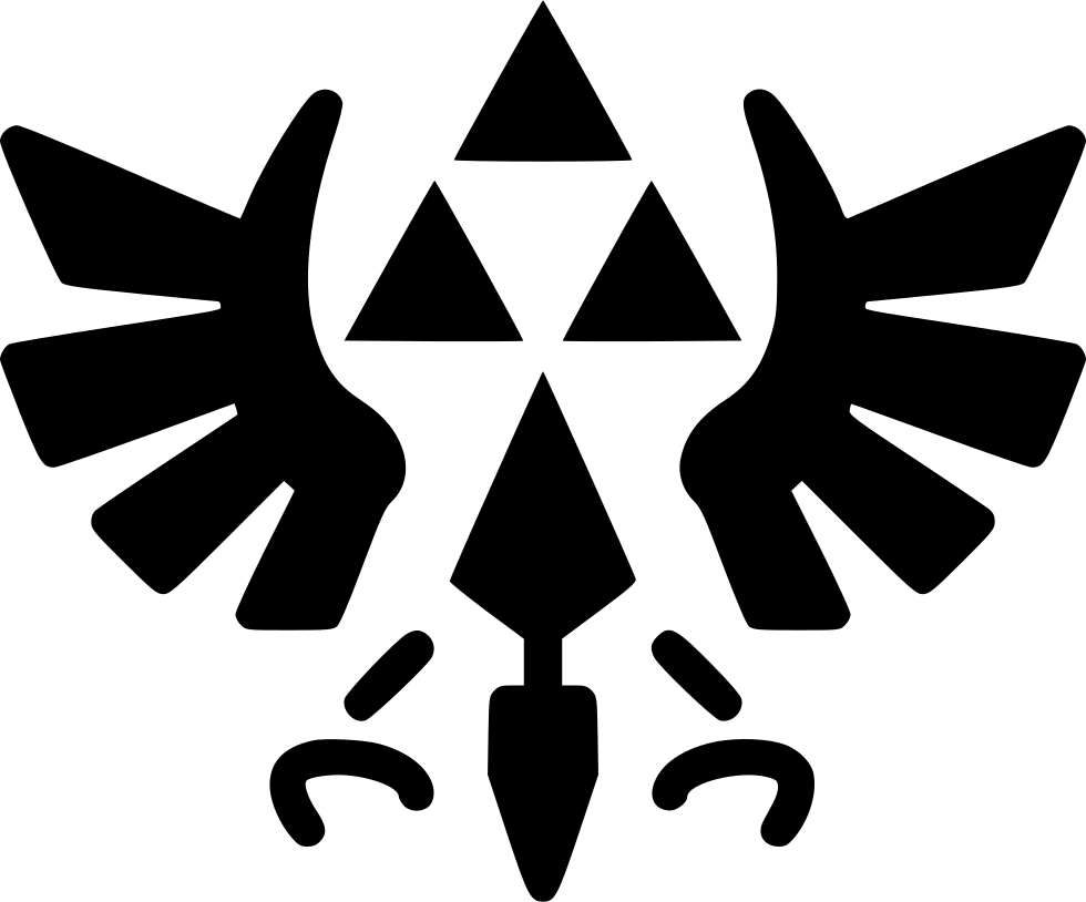 Triforce symbol png. The svg icon free