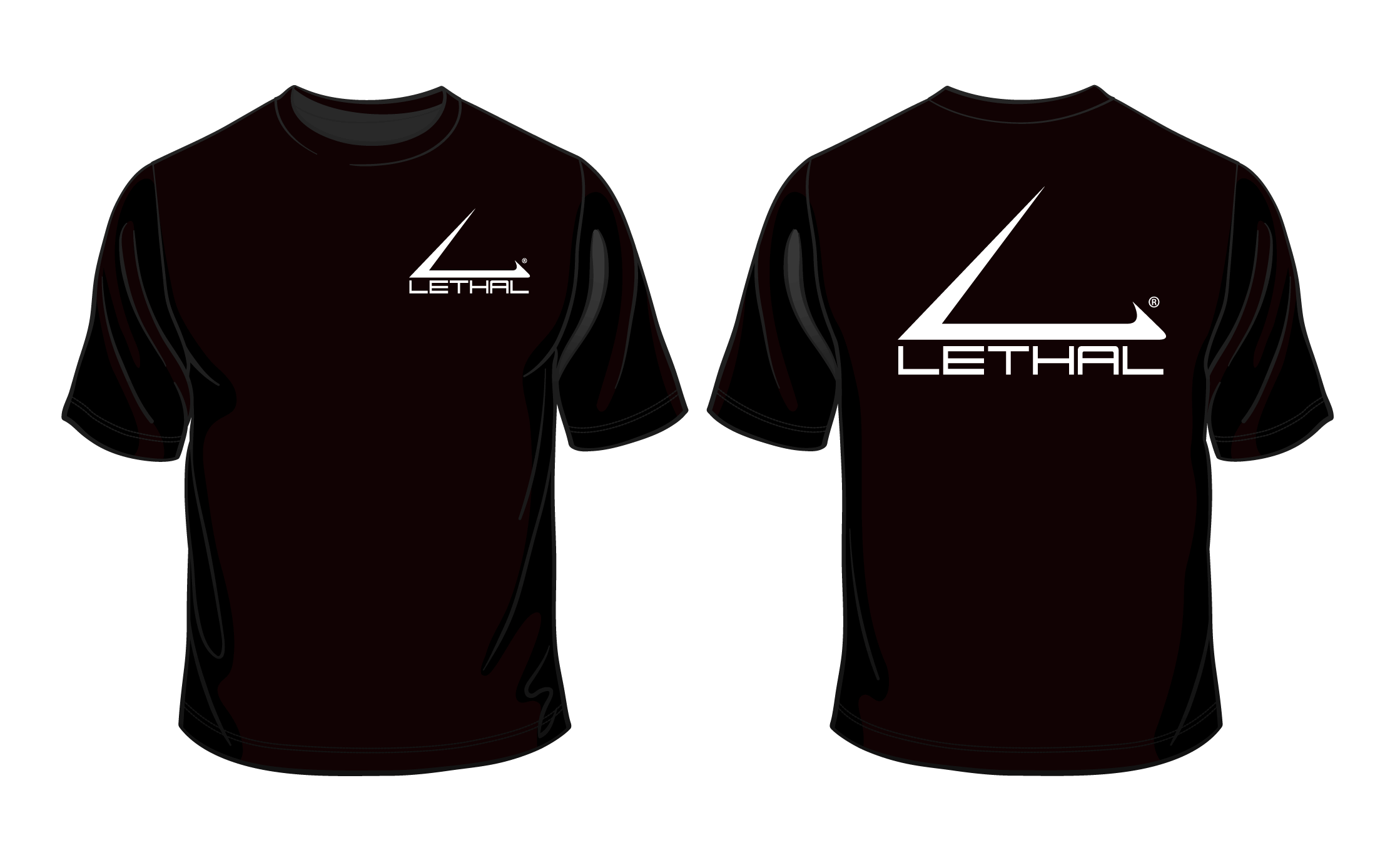 Black tshirt front and back png. Lethal logo t shirt
