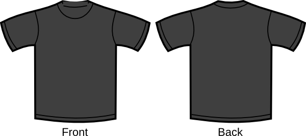 Black tshirt front and back png. Blank t shirt transparent