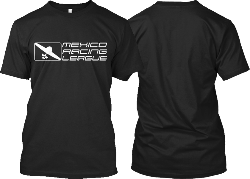 Black tshirt front and back png. Mrl white logo shirt
