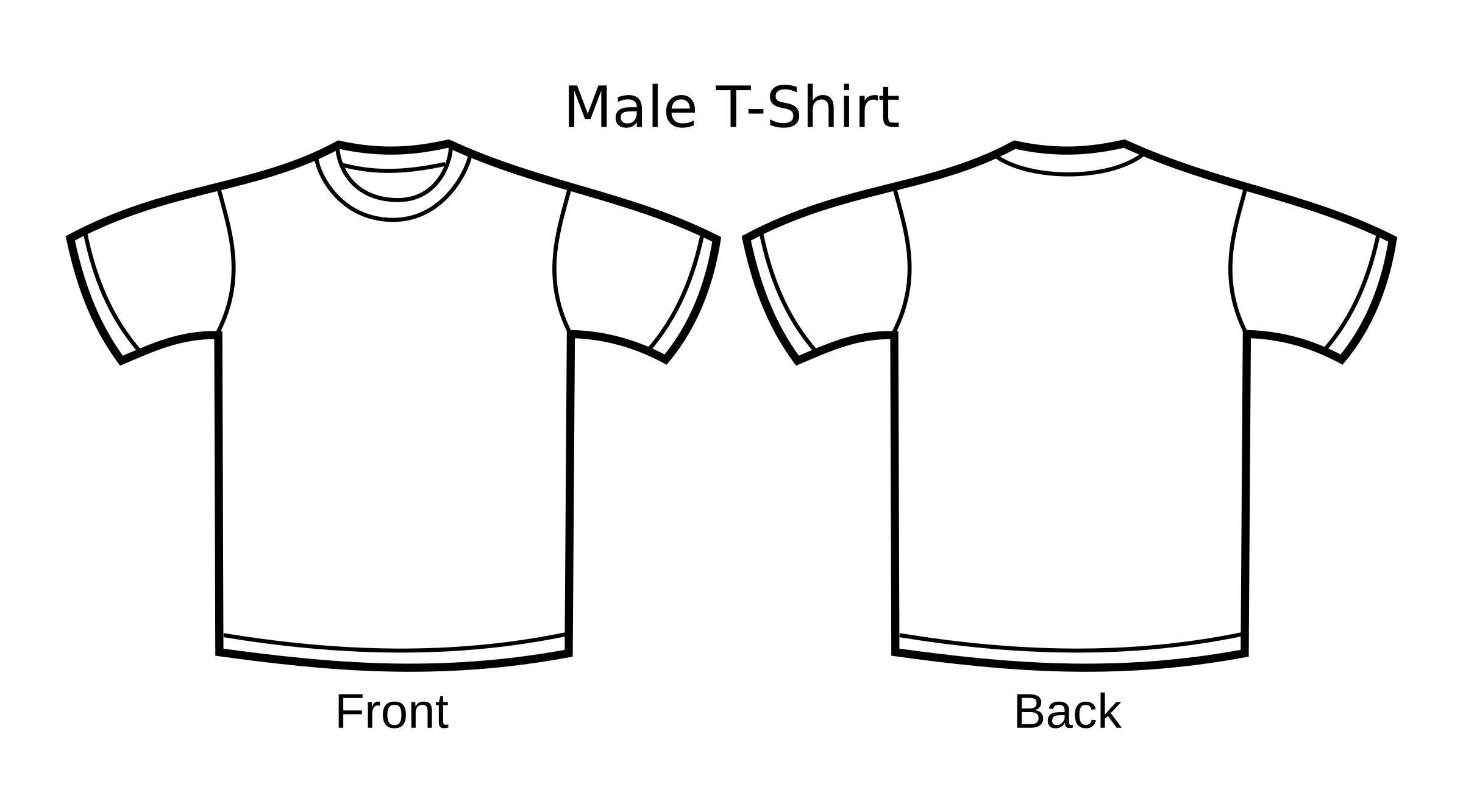 Blank Tshirt Template Png Transparent Images Pluspng T Clip Free Library