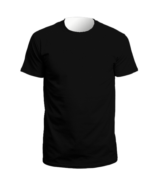 T shirt png front back. And round neck a