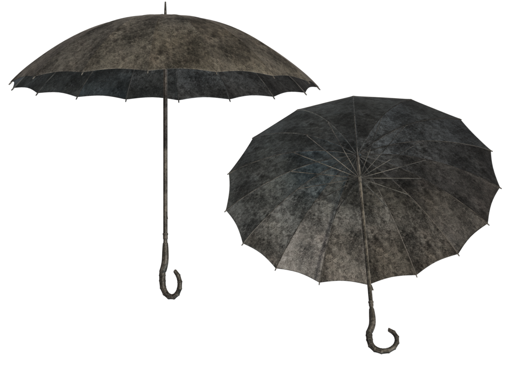 Black umbrella png. Steampunk stock by roy