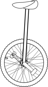 Black unicycle. Free cliparts download clip