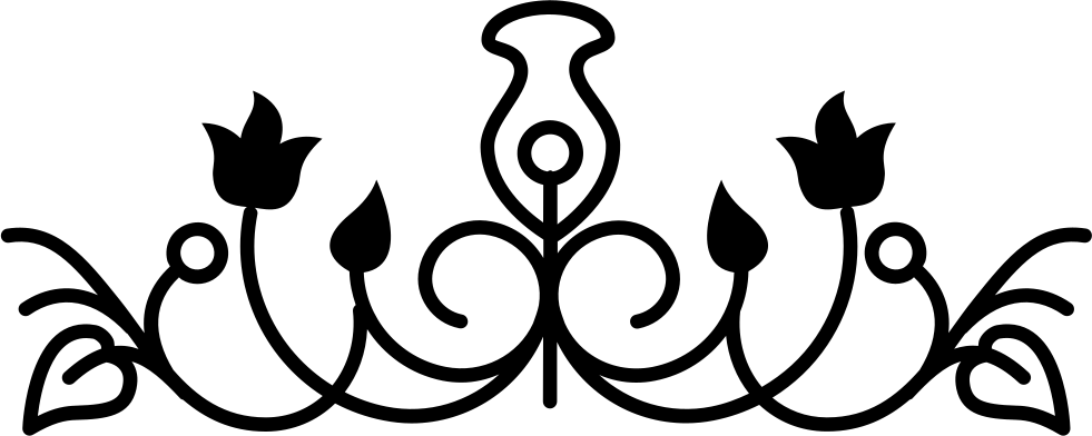 Black vines png. Flower bell outline design