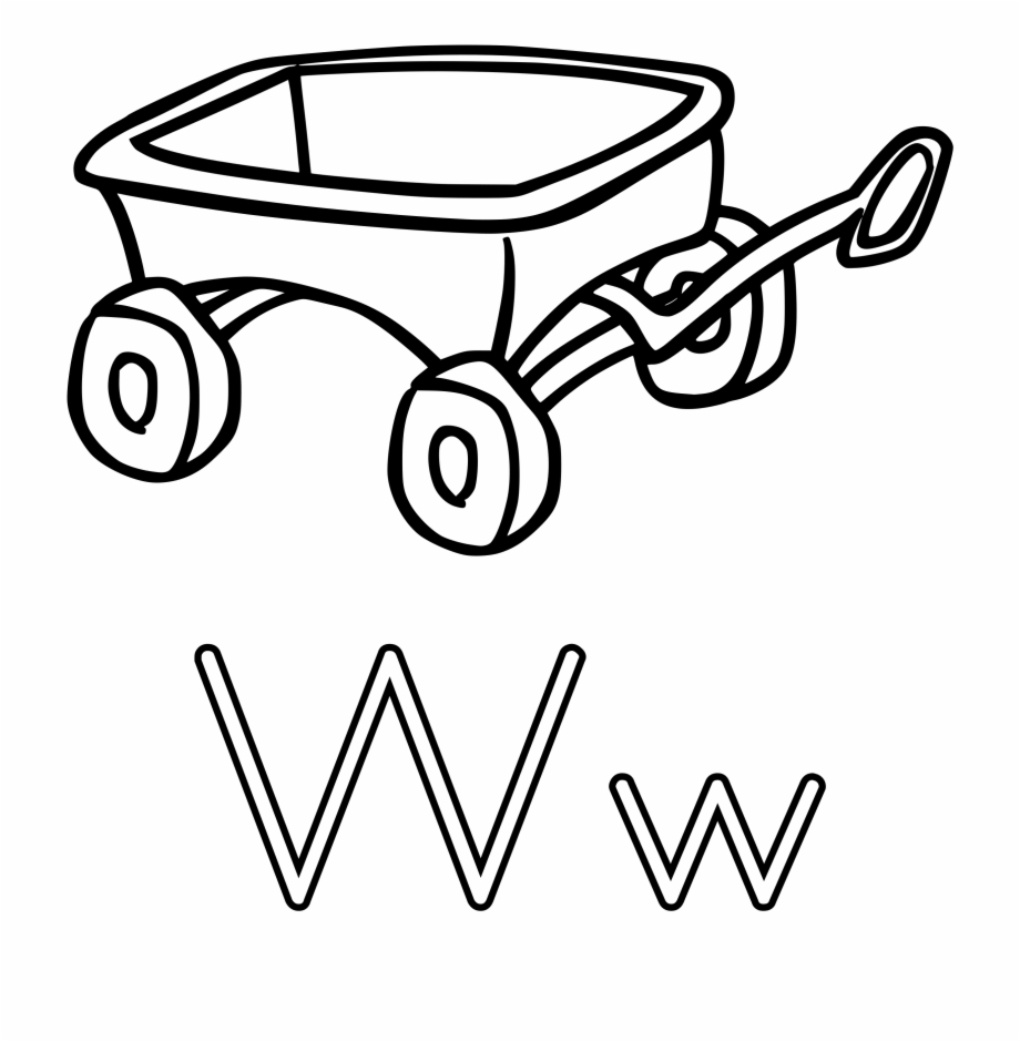 Black wagon. Small clipart and white