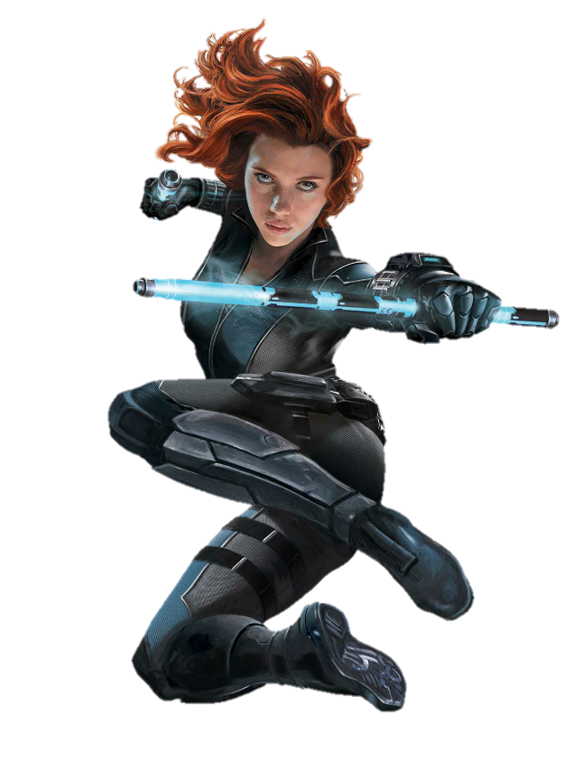 Drawing marvel black widow. Png render by mrvideo