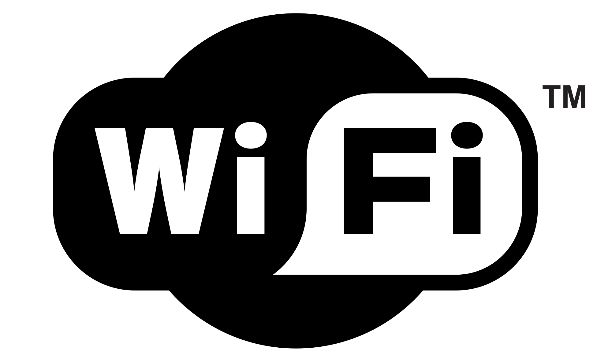 Black wifi logo png. And white transparent stickpng