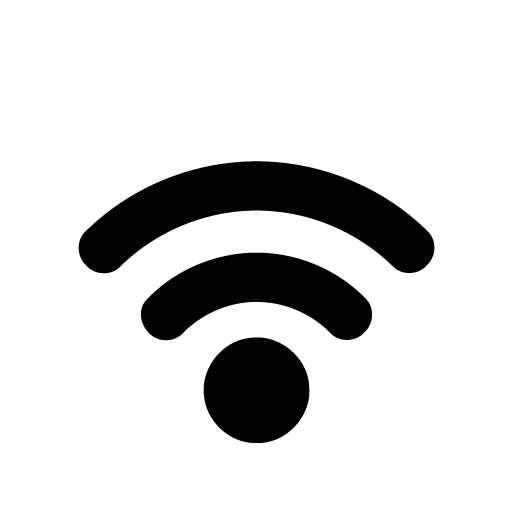 Black wifi logo png. Signal normal icon free