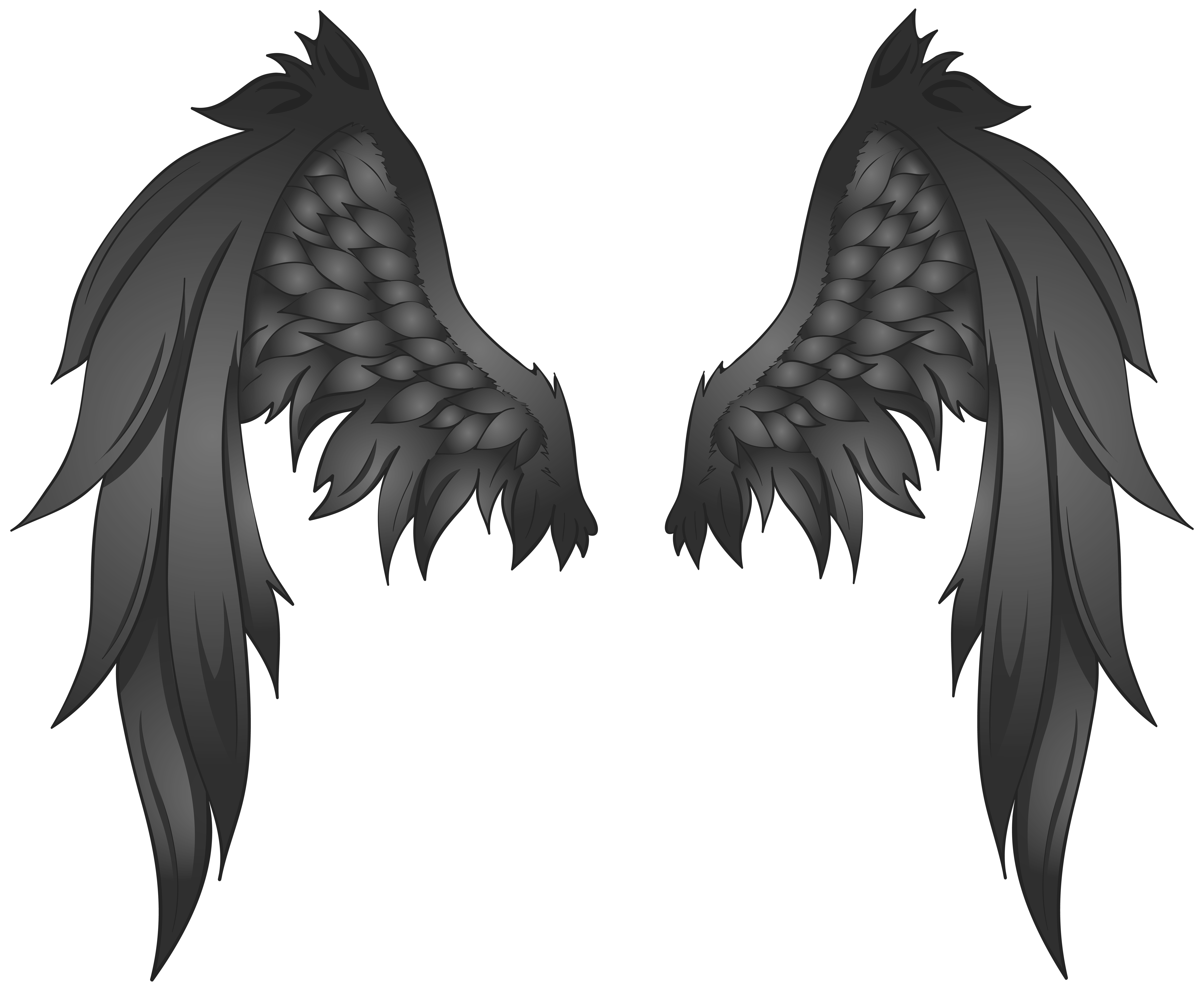 Cartoon wing png. Black wings transparent image