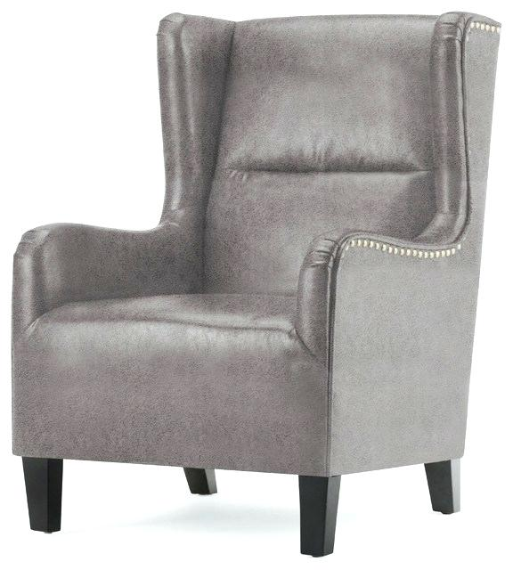 White wingpack. Black and wingback chair