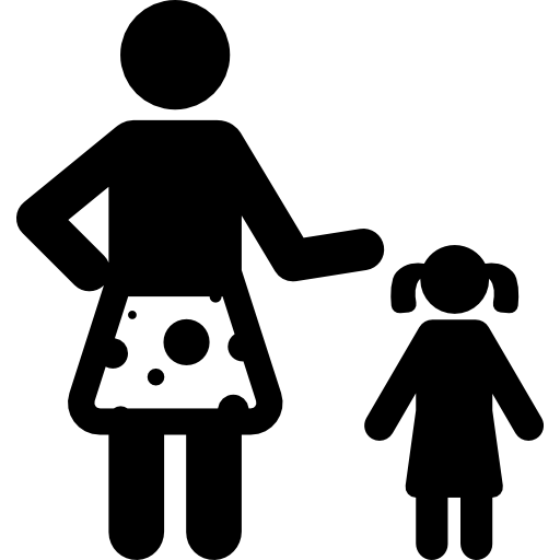 Black woman and child png. Familiar icon svg