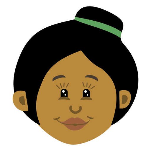 Black woman and child png. Head cartoon transparent svg