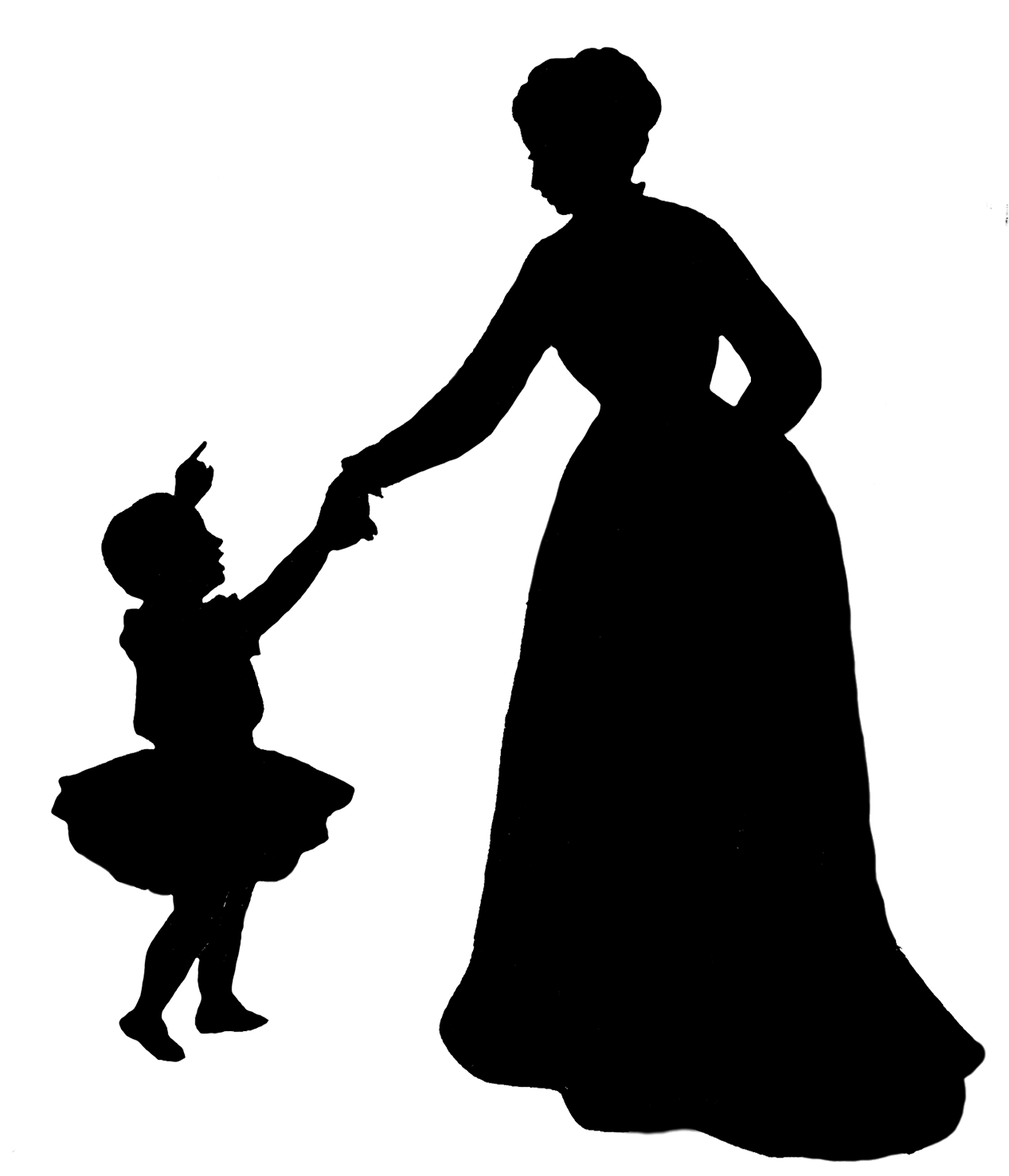 Black woman and child png. Silhouette at getdrawings com