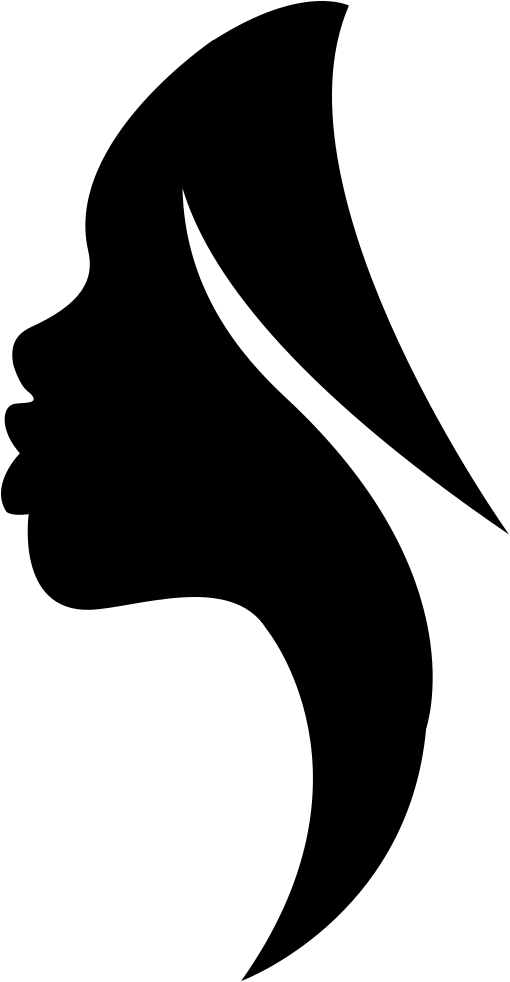 Viewing svg file. Side view woman silhouette