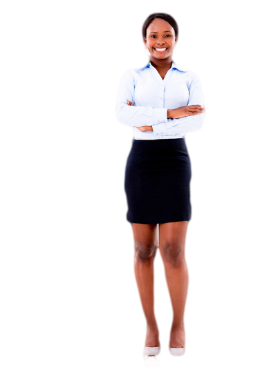 Black woman standing png. Image