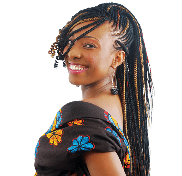 Braids vector african american hair. Ghanian lines for the