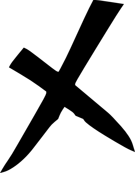 Black x png. Clip art at clker