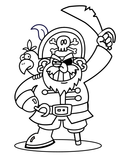 Blackbeard drawing coloring page. Pirate pictures at getdrawings