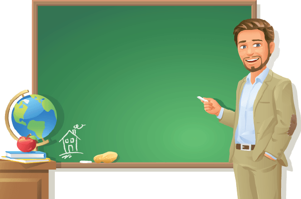 Transparent teacher background
