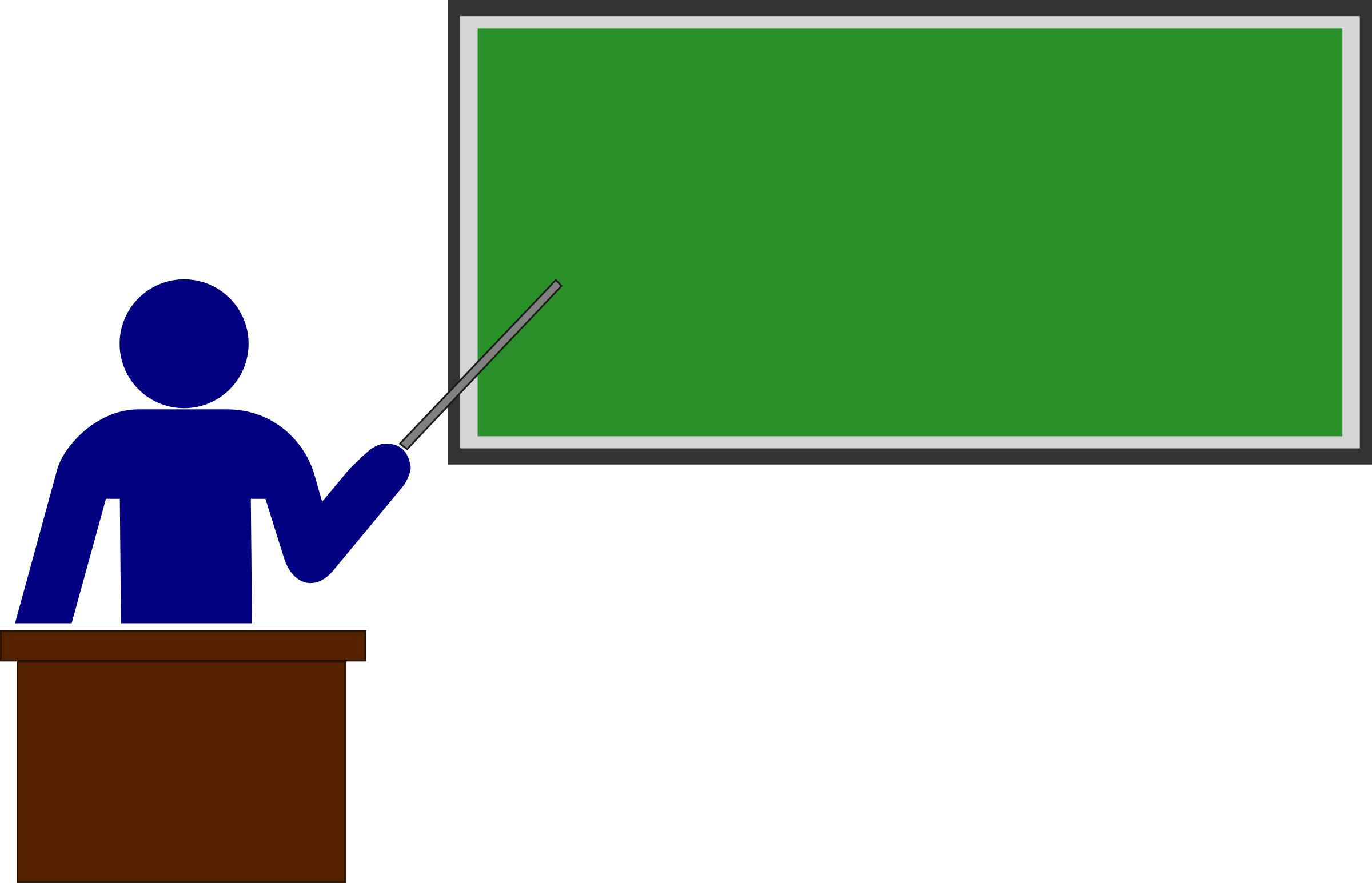 Teacher pointing stick png. With blackboard clipart free