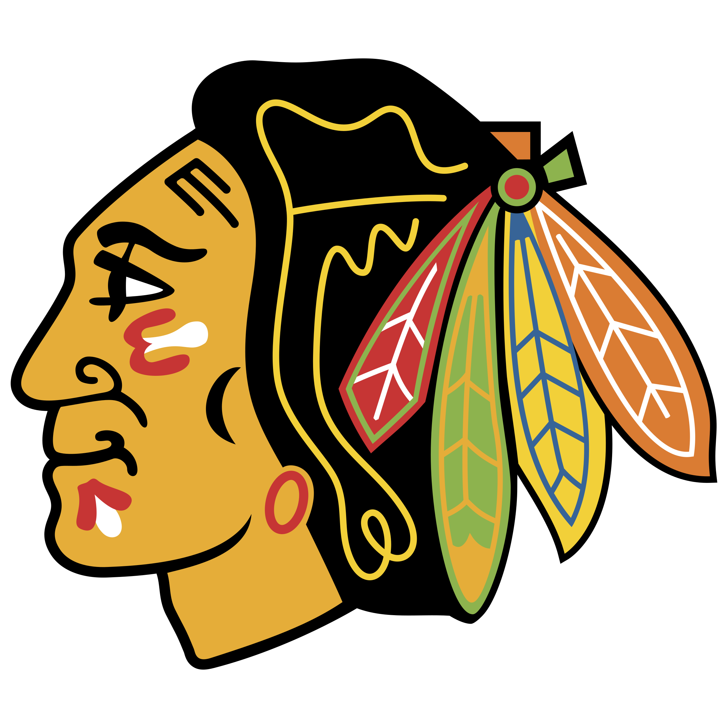 Chicago logo png transparent. Blackhawks svg picture royalty free
