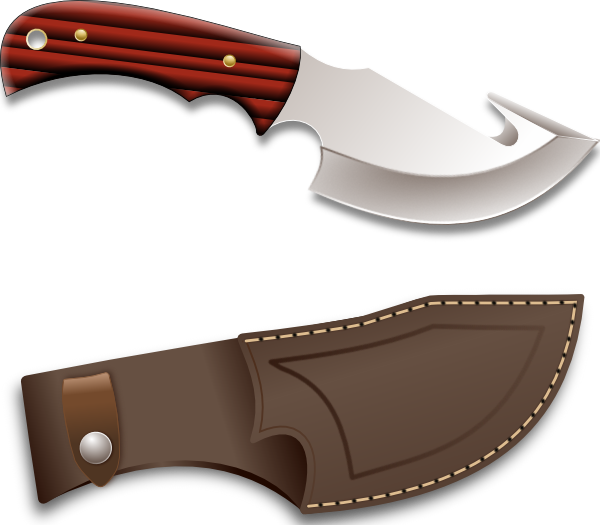 Blade clipart hunting knife. Hunter clip art at