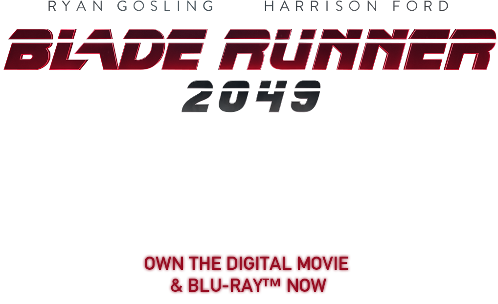 Blade runner 2049 title png. Official movie site own