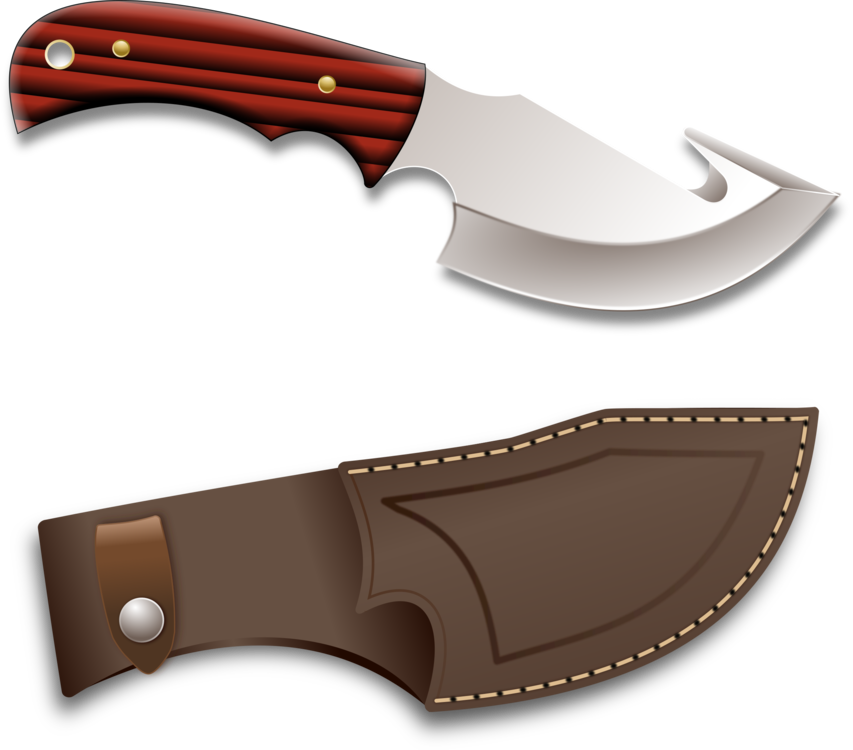 Blade vector hunting knife. Survival knives weapon free