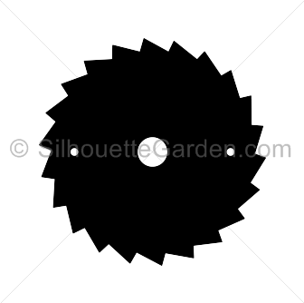 Blade vector saw. Silhouette
