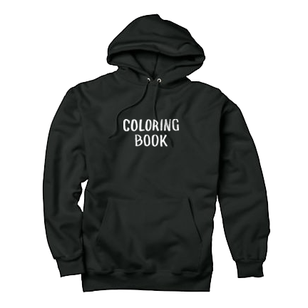 Blank black hoodie png. Coloring book chance the